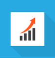 growing chart icon flat symbol premium quality vector image