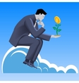 Growing profit business concept vector image vector image