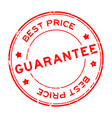 grunge red best price guarantee word round rubber vector image vector image