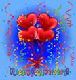happy anniversary card vector image vector image