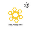 honeycomb yellow logo like sun vector image vector image