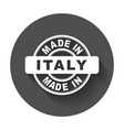 made in italy emblem flat vector image