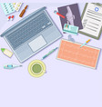 medicine concept workstation cartoon style vector image vector image