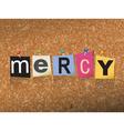 Mercy Concept vector image vector image