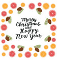 merry christmas and happy new year spruce vector image vector image