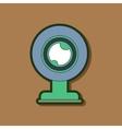 paper sticker on background of computer Webcam vector image