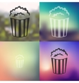 popcorn icon on blurred background vector image vector image