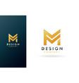 premium m logo beautiful logotype vector image vector image