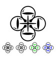 quadcopter flight flat icon vector image vector image