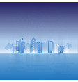 rays light urban city design abstract background vector image vector image