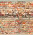 red brickwall seamless texture vector image