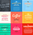 Retro Bakery Label Sets vector image vector image