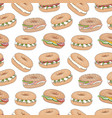 seamless pattern with bagel sandwiches vector image vector image