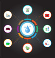 set of hygiene icons flat style symbols with trash vector image