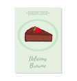 set of pastry poster banner for sale of brownie vector image vector image