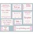 set wedding cards vector image vector image