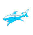 shark logo badge design outline isolated vector image vector image
