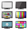 smart tv set isolated vector image