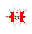 soccer ball on a canadian emblem vector image vector image