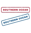 Southern Ocean Rubber Stamps vector image vector image
