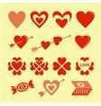 symbols love vector image