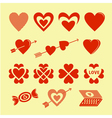 Symbols of love vector image vector image