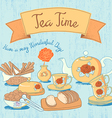 Tea Time Card vector image vector image