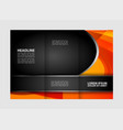 template design trifold brochure with polygons po