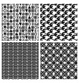 traditional print fashion seamless patterns vector image