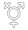 Transgender sign icon outline style vector image vector image