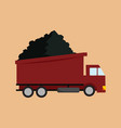 transport truck mining graphic vector image vector image