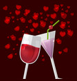 valentine love glass celebrate happy vector image vector image