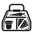 vegan lunchbox icon simple style vector image vector image