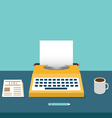 Vintage typewriter on the table with copyspace vector image vector image