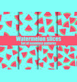 watermelon set seamless pattern triangular vector image vector image