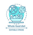 whole food diet vegan lifestyle concept icon vector image vector image