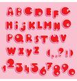 ABC - english alphabet and numerals - funny cartoo vector image