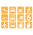 Airport icons v8 vector image