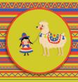 woman lama bc vector image