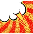 Pop art background comic style vector image