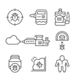 Set line icons of disinfestation vector image
