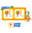 12 differences funny fruit air ball vector image vector image