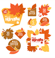 autumn stickers vector image vector image