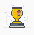 award trophy vector image