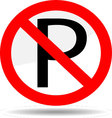 Ban parking vector image vector image