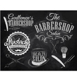 Barbershop Set chalk vector image
