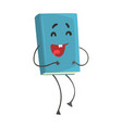 blue funny laughing humanized cartoon book vector image