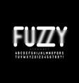 blurry effect font design fuzzy alphabet letters vector image vector image