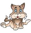 brown sitting kitten vector image vector image