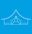 camping tent icon outline style vector image vector image